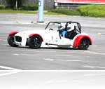 Driving at the Trafford Centre track day,