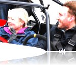 Tracy and our fantastic instructor at the Three Sisters track day.