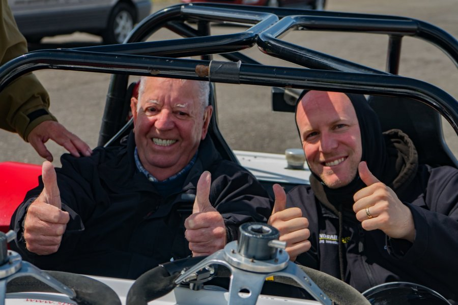 Thumbs up at Llandow